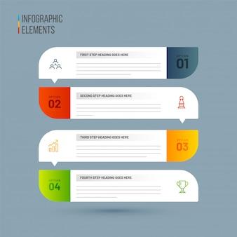 Vector presentation for 4 levels infographics elements