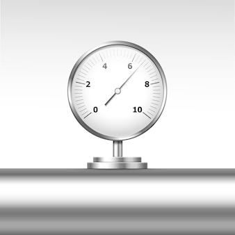 Vector pressure gauge manometer isolated