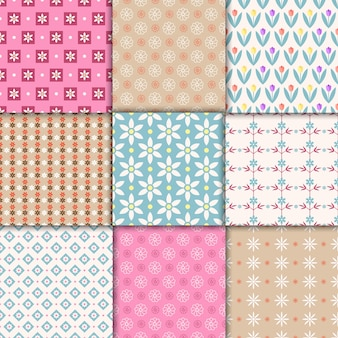 Vector pretty pastel seamless patterns. endless texture for wallpaper