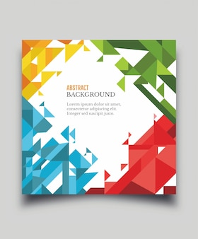 Vector printed cover template