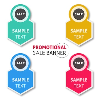 Vector promotional sale banner designs