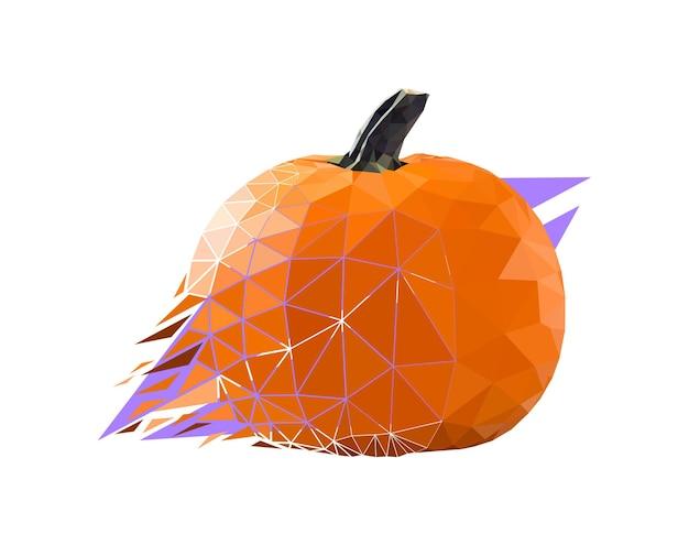 Vector pumpkin in low poly style. digital art