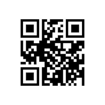 흰색 배경에 격리된 스마트폰 스캔을 위한 벡터 qr 코드 샘플입니다.