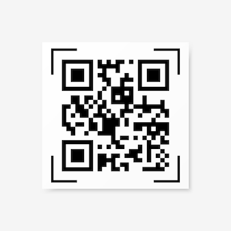 Vector qr code sample isolated
