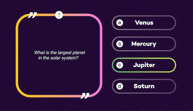 Vector question and answers set neon style for quiz game exam tv show school examination test vector