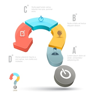 Vector Question mark business concepts with icons