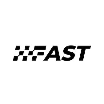 Векторный логотип флаг гонки