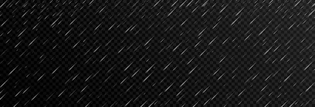 격리 된 투명 배경에 벡터 비 비 png 폭우 허리케인 날씨 png