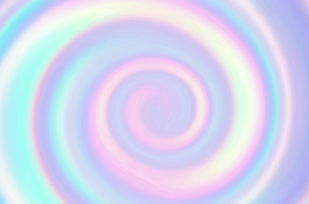 Vector rainbow swirling background.