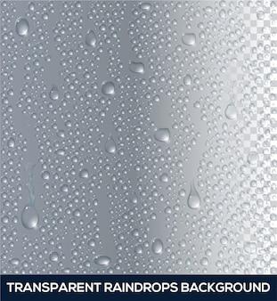 Вектор реалистичные фон из капель дождя