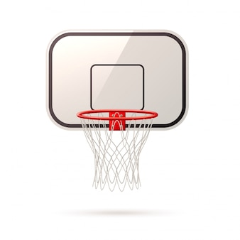 Vector realistic basketball board basket and hoop
