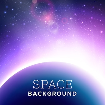 Vector realistic cosmic background