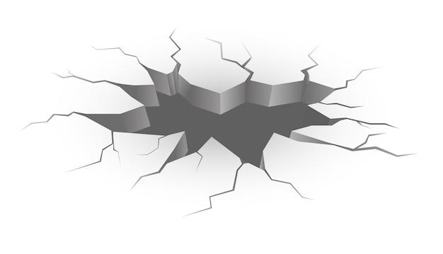 Вектор реалистичные трещины в земле.