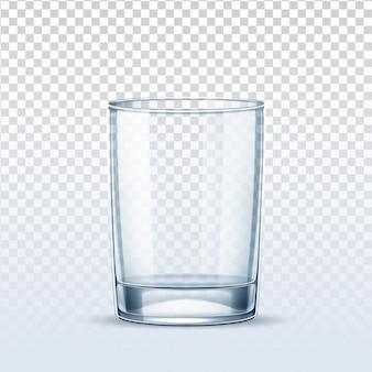 Вектор реалистичный пустой стакан для чистой воды