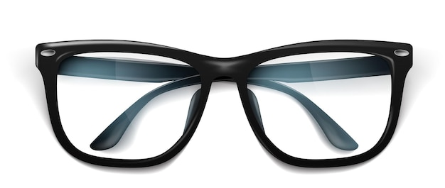 Vector realistic eyeglasses spectacles