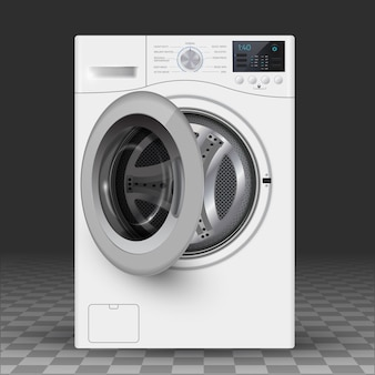 Vector  realistic  illustration of washer.