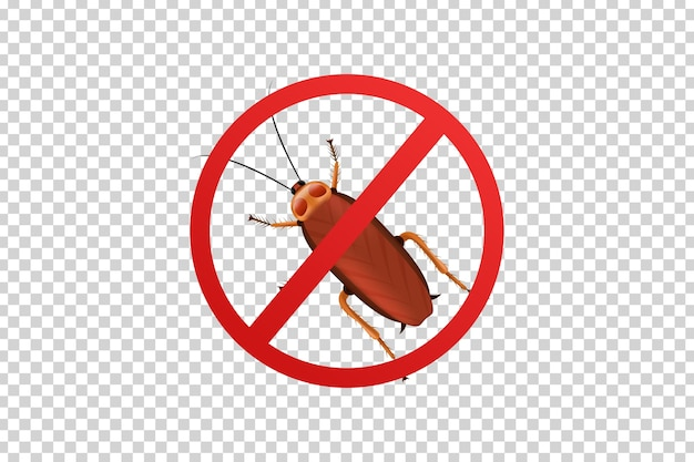 Vector realistic isolated cockroach sign for template decoration and covering