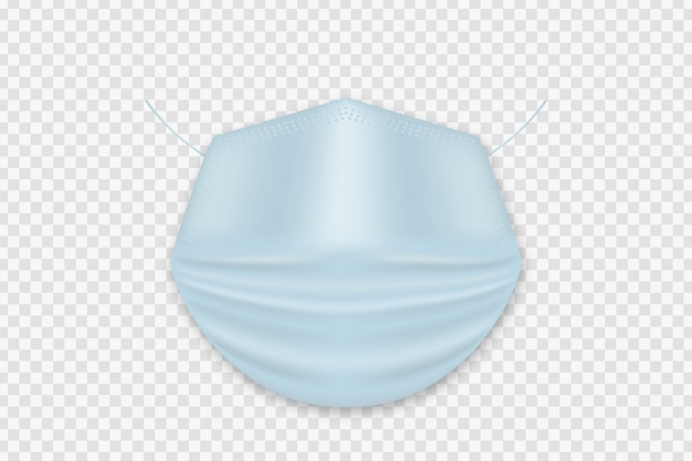 Vector realistic isolated medical mask for decoration and covering on the white space. concept of virus protection.