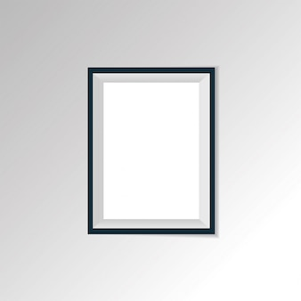 Vector realistic paper or plastic white picture-framing mat