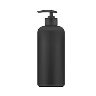 Vector realistic plastic bottle with dispenser