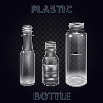 Vector realistic plastic container mineral water bottle beverage isolated empty plastic water bottle beverage drinking mineral vector plastic object