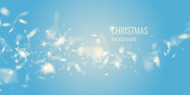 Вектор реалистичные снежинки на темном фоне. прозрачные элементы для рождественских открыток