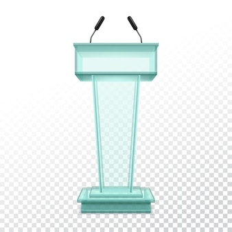 Vector realistic stand for press conference