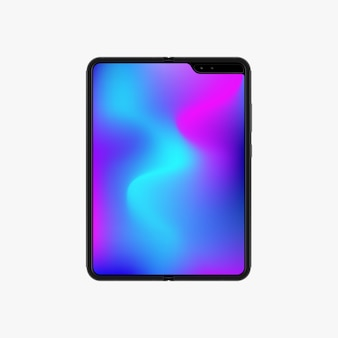 Vector realistic template. tablet computer.