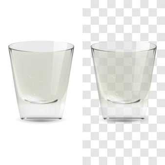 Vector realistic transparent and isolated whiskey shot glass. alcohol drink glass icon illustration
