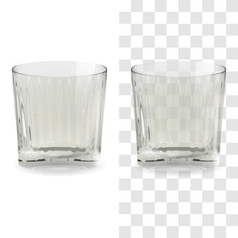 Vector realistic transparent and isolated whiskey snifter glass. alcohol drink glass icon illustration