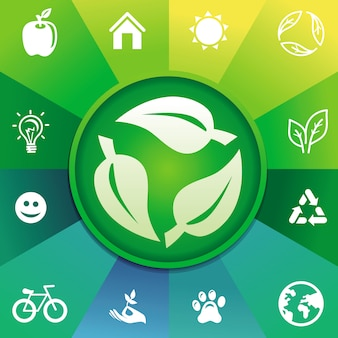 Vector recycle concept - ecology