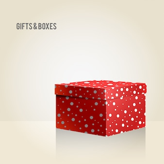Vector red box on light background