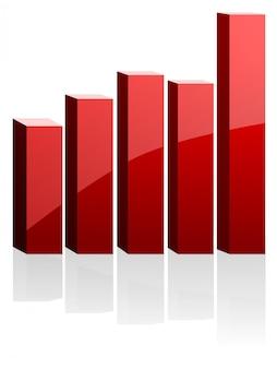 ビジネスのための赤いベクトル図
