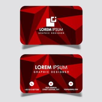 Дизайны визитных карточек vector red lowpoly