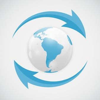 Vector refresh icon illustration