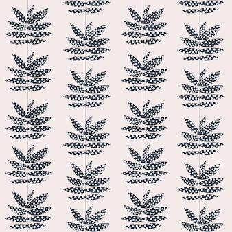 Vector retro leaf illustration stripe seamless repeat pattern digital artwork home decor print