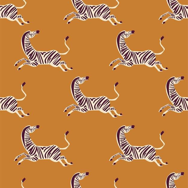 Vector retro neon color zebra illustration motif seamless repeat pattern digital file artwork
