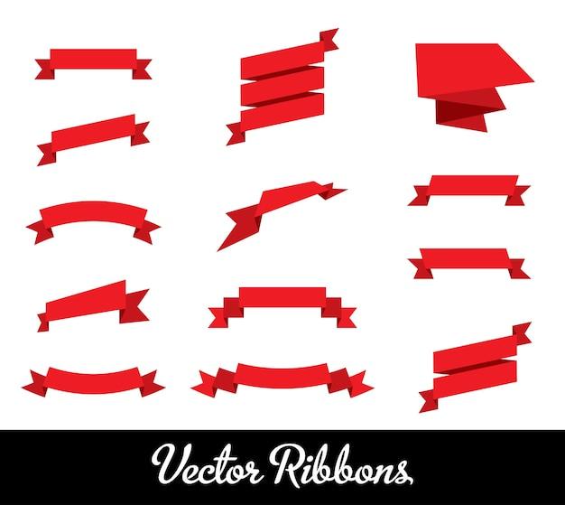 Векторная коллекция наборов лент