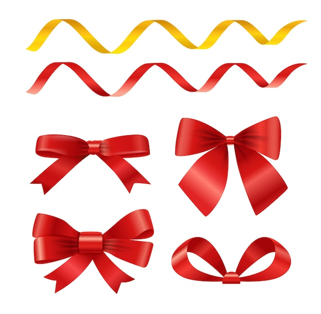 Vector ribbons set isolated on white. different ribbons vector clipart