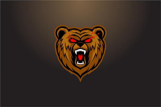 Vector roaring bear vector