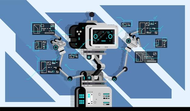 Векторное тело робота.