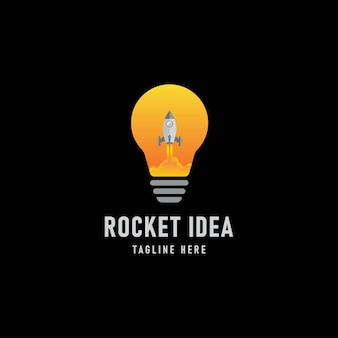 Vector rocket idea design logo