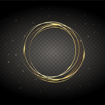 Vector round frame shining circle banner.