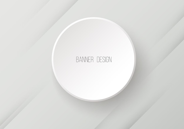 Vector round paper banner with shadow vector eps10