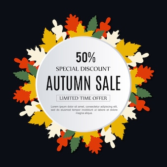 Vector Sale Autumn Background