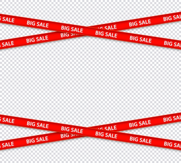 Vector sale restriction red stripes, discount zone