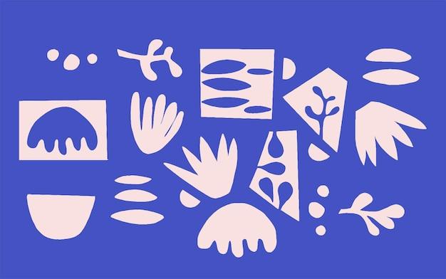 Вектор скандинавская простая и современная идея дизайна графического ресурса мотив современной формы