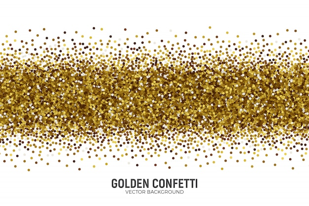 Vector scattered golden confetti
