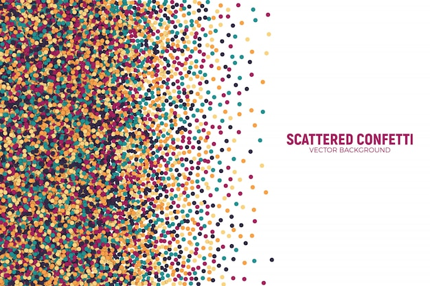 Vector scattered motley confetti 3d vector