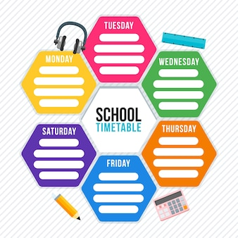 Vector school timetable